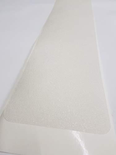 Eine Anti Rutsch Matte gummiert, der beste Streifen den wir kennen, eine Matte für eine Stufe in 65 cm x 15 cm transparent, für Ihre Treppe auch fuer Hund und Kind. Anstatt Stufenmatten od. Treppenteppich 0,45 mm dünn selbstklebend