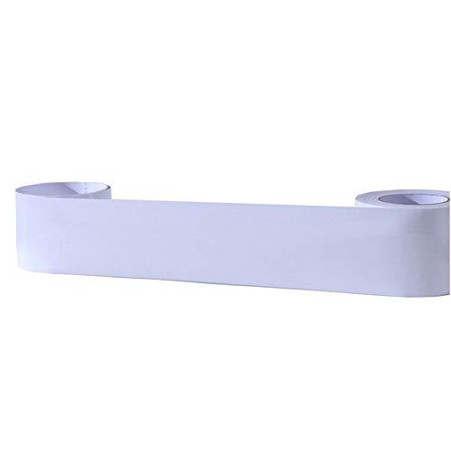 Ecke Linie Aufkleber Randstreifen Selbstklebende Linie Dekoration Wohnzimmer Dach Hintergrund Wand Grenze Perle Weiß-15 cm (Grenze Selbstklebende Wand)