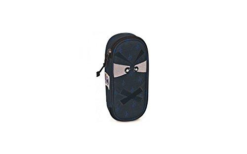 Portapenne invicta - lip pencil bag face - rosa fantasia - porta penne scomparto interno attrezzato