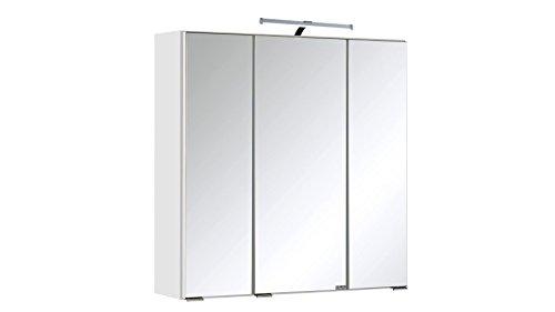 #HELD MÖBEL Spiegelschrank Cardiff Breite 60 cm, mit LED-Beleuchtung weiß#