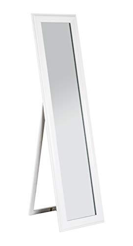 Haku-Mbel Standspiegel, MDF, weiß, 49 x 40 x 156 cm