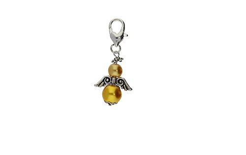DIY Set für 30 Perlenengel Schutzengel in verschiedenen Farben / Hochzeit Konfirmation Geburtstag Weihnacht Taufe Kommunion Geschenk Gastgeschenk EAS1, Farben:Gold
