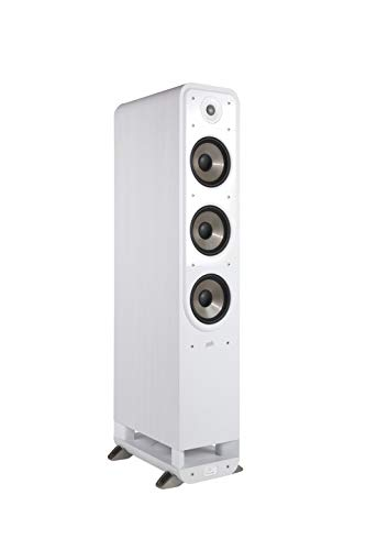 Polk Audio S60E Signature Standlautsprecher, weiß Nussbaum