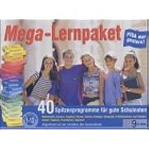 Mega-Lernpaket, 9 CD-ROMs 40 Spitzenprogramme für gute Schulnoten. Mathematik, Deutsch, Englisch, Physik, Chemie, Biologie, Geografie, 6 Wörterbücher und Vokabeltrainer: Englisch, Französisch, Spanisch. Für Windows 98/Me/XP