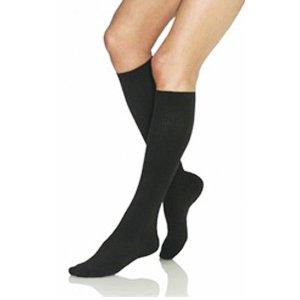Jobst Women's Opaque Knee High 15 20 Mmhg Support Sock Small Classic Black
