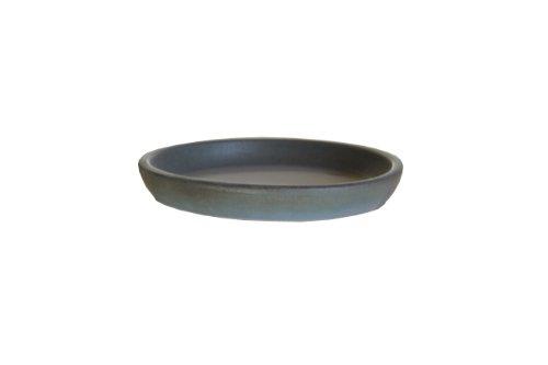 Keramik Untersetzer für Blumen-Topf rund frost-sicher Vogeltränke wasser-dicht Ø 27 x 4 cm Stellfläche 22 cm Form 099.027.10 tropic grün