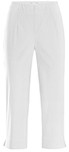 Stehmann Ina-530, Bequeme, stretchige Caprihose Größe 48, Farbe weiß
