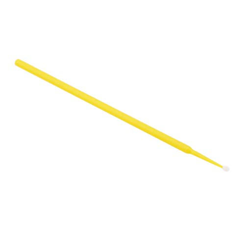 L_shop Einweg-Mikro-Applikator-Pinsel-Stick-Kindersicherheits-Ohr-Tupfer Wimpern-Tupfer Dental Applicator Stick, Kunststoff + Baumwolle, gelb