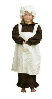 (Kinder Viktorianisch Mädchen Kostüm - mittelgroß - 120-130cm)