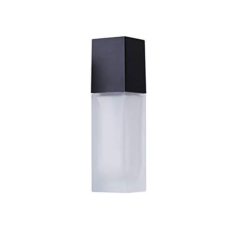 CHIRORO 1 Stück Leer transparent Scrub Glasflasche Kosemtik Creme Lotion Gel Sahne Sonnencreme Essenz Pumpflasche Platz Pumpe Lotion Flasche,40ml -