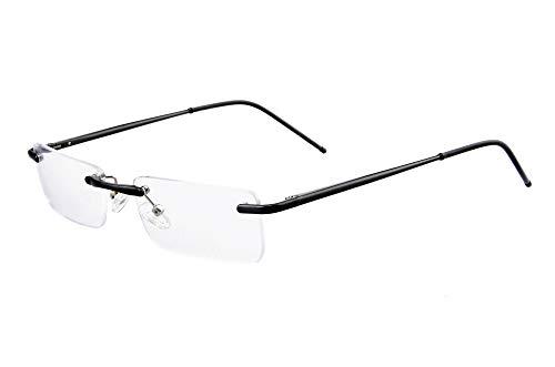 Edison & King randlose Lesebrille Clarity die unauffällige Brille zum Lesen (schwarz, 1,50 dpt)
