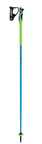 Leki bastoncini da sci » green bird « trigger s in alluminio verde blu nero, 115 centimetri