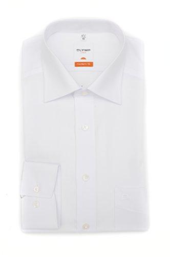 OLYMP Modern Fit Hemd extra langer Arm Popeline weiss AL 69 Gr. 47