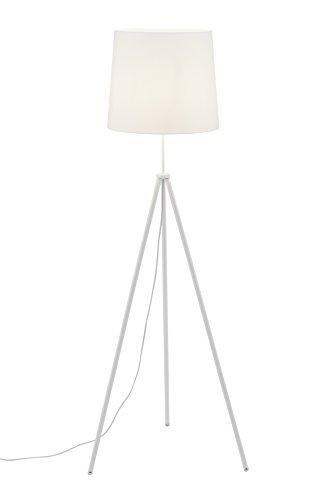 Briloner Leuchten–Lámpara de pie Color blanco, Salón, pantalla