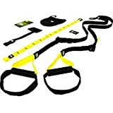 TRX TRX HOME KIT Suspension Trainer Home Attrezzo per Fitness, Unisex adulto, Nero/Giallo