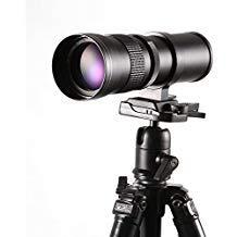 Ruili 420-800mm f/8.3-16 Tele Zoom Objektiv Teleobjektiv Zoomobjektiv Vario-Objektiv für Canon EOS 1300D,200D,2000D,77D,G7 X Mark II,80D, 1200D, 1100D, 750D, 5D Mark III, IV, und mehr DSLR Kamera