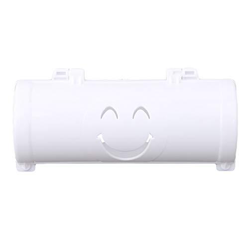Idiytip Küche Montiert Müllbeutel Dispenser Aufbewahrungsbox Durable Kunststoff Wand Müll Box Halter Dispenser, Weiß (Wand-dispenser)