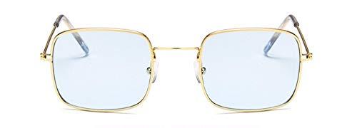 WSKPE Sonnenbrille Quadratische Sonnenbrille Frauen Schwarz Rosa Brillen Gradient Sonnenbrille Uv 400 Hellblau-Objektiv