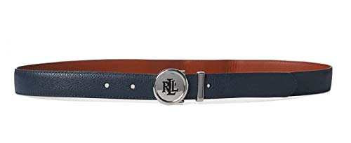 9e57fcd5 Lauren By Ralph Lauren Women's Navy Leather Belt Off-White in size Large