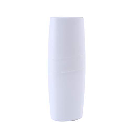 Yinew Travel Wash Cup Flasche Tragbare Zahnbürste Zahnpasta Aufbewahrungsbox Fall Leichte Zahnbürste Organizer Container, Weiß