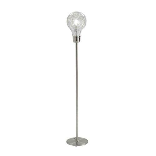 Tomasucci Lampadina lampada da terra in metallo e vetro