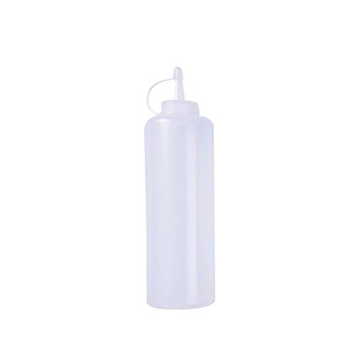 Kunststoff-Quetschflaschen, für Speisewürze; Saucen-, Öl-, Essig-, Ketchup-Spender; Spritzflasche für Küche, Restaurant, plastik, 13 Oz