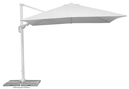 Schneider-Schirme Rhodos Twist Bianco Ampelschirm Weiß, ca. 300 x 300 cm -