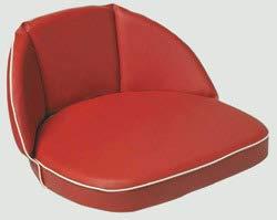 Schlepper- und Traktoren Sitzkissen, 20 cm Rücken, rot, Riemen