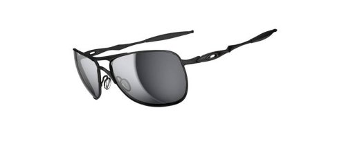 Oakley Herren Crosshair Aviator Sonnenbrille, MATTE BLACK/BLACK IRIDIUM/Black (Aviators Oakleys)