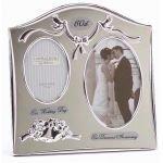 from Juliana Two Tone Silverplated Wedding Anniversary Gift Photo Frame - 60th Diamond Anniversary