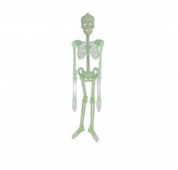 DESIGN FREUNDE Halloween Skelett Leuchtet bei Dunkeln Groß Big 90 cm