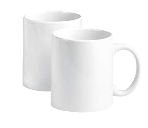 VBS Porzellan Kaffeebecher, 2er-Set