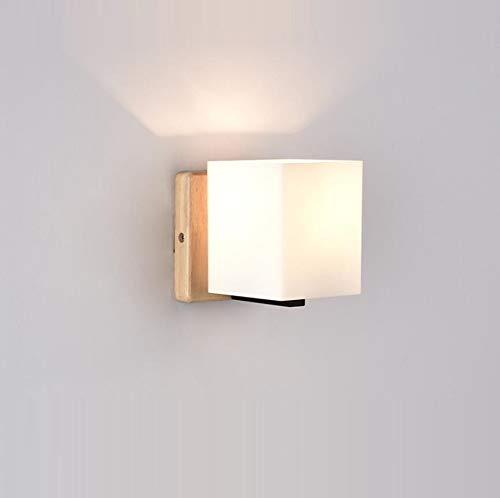 Wandleuchte Nordic Einfache Hölzerne Lampe Schlafzimmer Wandleuchte Moderne Kreative Gang Wandleuchte Led Japanische Nachttischlampe (Lampe Hölzerne)