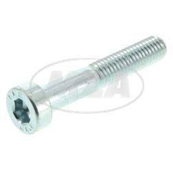 Zylinderschraube M5x30-4.8-A4K (DIN 6912) - Flacher Kopf, Innensechskant mit Schlüsselführung