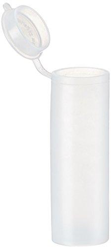 neoLab E-4264 Kunststoffdose mit Scharnierdeckel, 24 mm x 72 mm, 25 mL