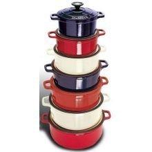 Paderno a1737324 Rouge 4 Qt. Rond Néerlandais Four avec Couvercle par Paderno World Cuisine