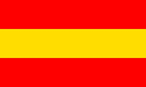 magFlags Flagge: Large Stadt Karlsruhe Rot-Gelb-Rot Umkehrung der gelb-rot-gelben Flagge Badens | Querformat Fahne | 1.35m² | 90x150cm » Fahne 100% Made in Germany