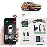 Auto-Fernbedienung, 2-Wege-Automatisches Auto-Alarmanlage, Telefon APP, Schlüsselloser Einstieg, PKE Zentralverriegelung mit Zwei 4-Tasten-Steuerungen, Fernstart