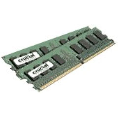 Crucial - Memoria RAM (DDR2, 667 MHz, 2 GB, 240 pin, 2 x 1 GB)