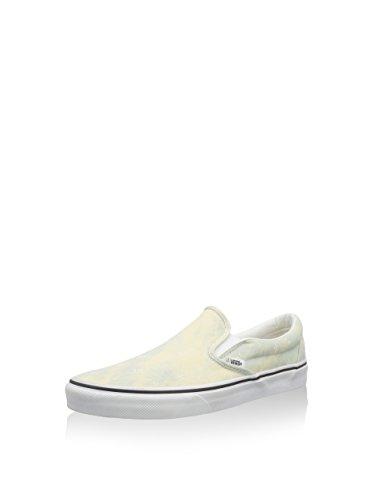 Vans CLASSIC SLIP-ON, Scarpe da Skateboard uomo Turchese denim barrio true white Bianco