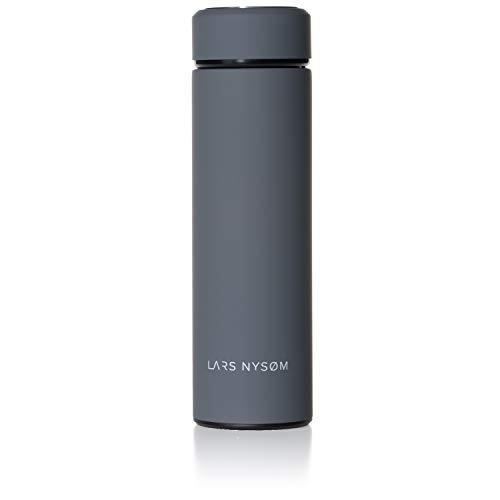 LARS NYSØM Thermoskanne Elements I 450ml Thermosflasche für Tee, Kaffee, Baby I Edelstahl Trinkflasche mit Schrauverschluss BPA-Frei I Isolierkanne für unterwegs (Thermoskanne Edelstahl Kaffee)