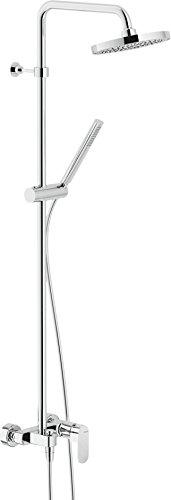 Nobili rubinetterie up94130/30 sistema colonna doccia con miscelatore monocomando esterno collezione up cromo