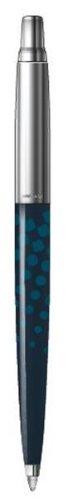 Parker - Jotter 2012: Jotter Blau Dots CT, Limitierte Auflage, Kugelschreiber mit Druckmechanismus.