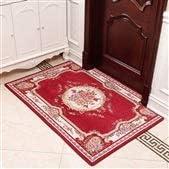 Genven, zerbino in Stile per Europeo, per Stile Soggiorno, Camera da Letto, casa, Resistente all'Usura e allo Sporco, rosso1, 80 x 100 cm ab9629