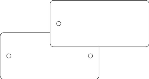 LEMAX® Schild PVC Kollianhänger weiß unbeschriftet 2 Stanzlöcher 35x60mm
