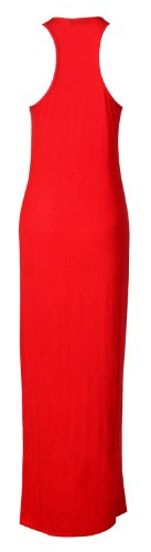 Fast Fashion Maxi robe sans manches dos nageur Rouge - Rouge
