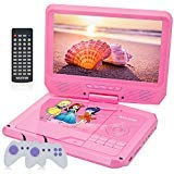 WONNIE 11.5' Kids DVD Player Portable with 9.5' Swivel Screen, Games Joysticks, 5