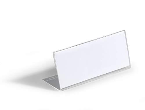 Durable 805419 Tischnamensschild L-Aufsteller (aus Acryl, 61 x 150 mm) 10 Stück, transparent