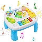 Mesa De Actividades Musicales bebé Juguete - WISHTIME Laugh & Divertido Electrónica Educación Juguetes para Bebé Infantil, 6 mes+