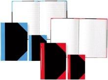 STYLEX 29107 Kladde A7, 192 Seiten liniert, schwarz mit blauen Ecken
